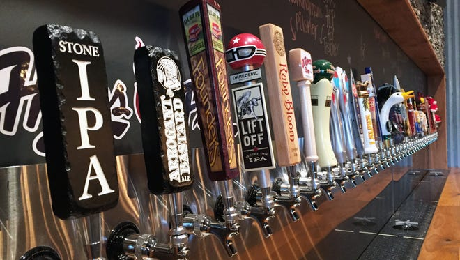 The bar has 40+ taps for craft beer, a lot for the Greenwood area.