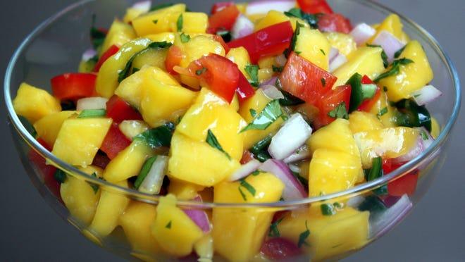 Summertime Mango Salsa.