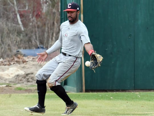 William Carey freshman Tanner Estill attempts to catch the ball during baseball practice on Friday.