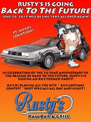 Rusty's Island Park location will host an 80s party