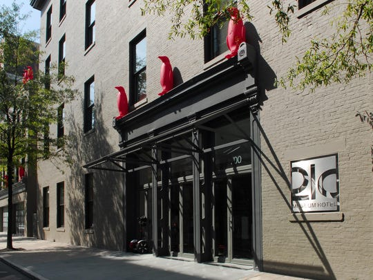 The 21c Museum Hotel on West Main Street in Louisville