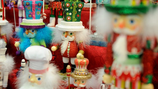 Nutcrakers wait to be purchased at the Wichita Falls Ballet Theatre booth at Christmas Magic Saturday, Nov. 5, 2016, at the MPEC. The nutcrackers are sold to help support the Wichtia Fall Ballet Theatre.