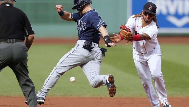 For the last two weeks, Jonathan Arauz's play has made him a staple in the Boston Red Sox's lineup before being given a day off Sunday.