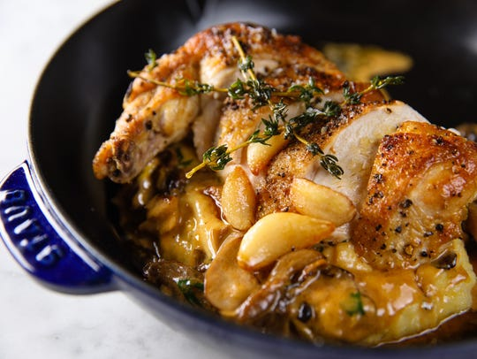 Roasted chicken will be one of the rustic dishes served