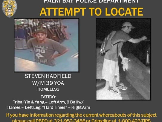 Palm Bay police created this poster of burglary suspect