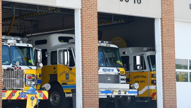 Fire vehicles fill the bays at Augusta County Company 10 fire station located on Richmond Road in Staunton.