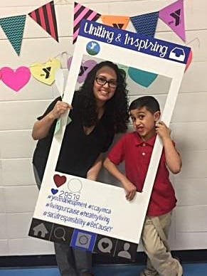 Rebecca Trovarelli and her son, Hector Arocho III, enjoyed attending an ice cream social at the Cumberland Cape Atlantic YMCA/YMCA of Vineland.