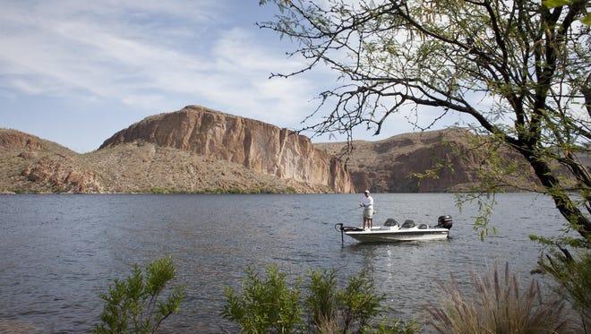 Fishing on Canyon Lake.