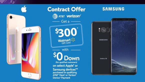 Walmart Black Friday ad for $300 off the price of an
