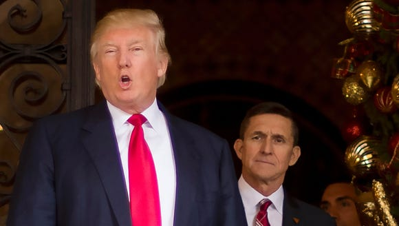 President Trump and Michael Flynn, former national