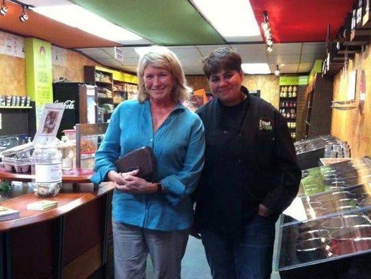 Martha Stewart with Bonnie Saran at Little Spice Bazaar