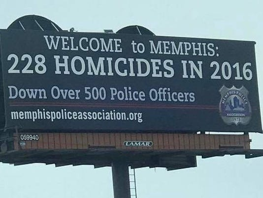 Memphis police union catches flack for billboard