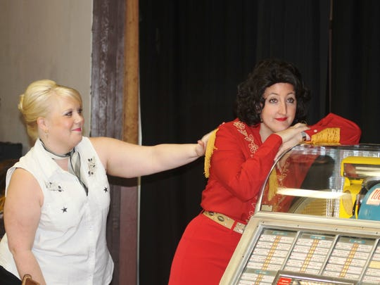 """Carolyn Johnson (left) and Taylor Pawley star in Keizer Homegrown Theatre's musical production of """"Always ... Patsy Cline"""" opening May 15 at the Keizer Lions Club Auditorium."""