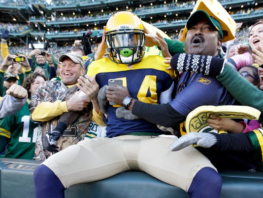 James Starks, Lambeau Leap