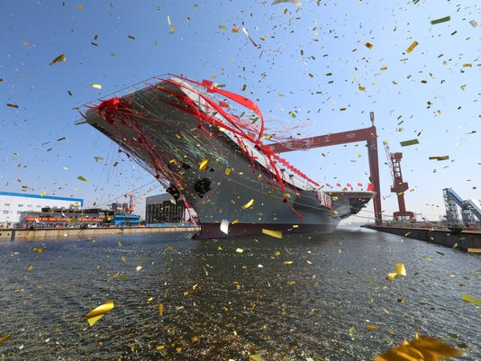 AP CHINA AIRCRAFT CARRIER I CHN