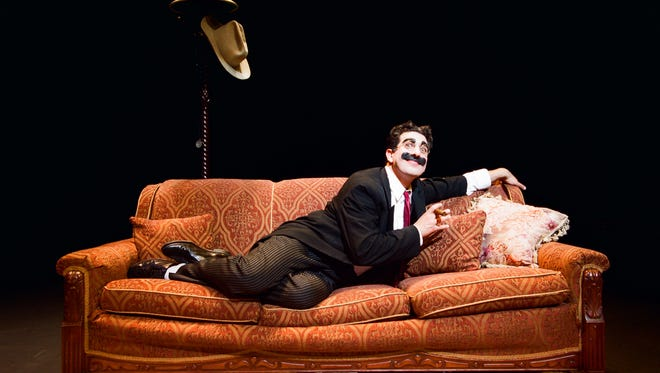 """Frank Ferrante performs as Groucho Marx circa 1934 in his one-man show """"An Evening With Groucho."""""""