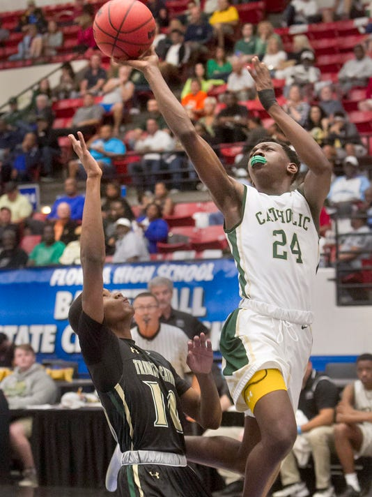Catholic 5-A Semifinal Basketball
