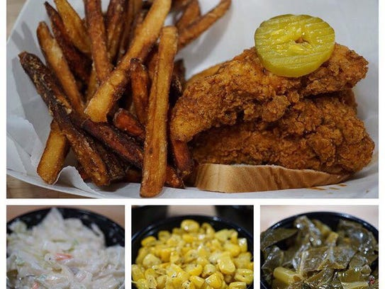 Chicken Tenders and sides.