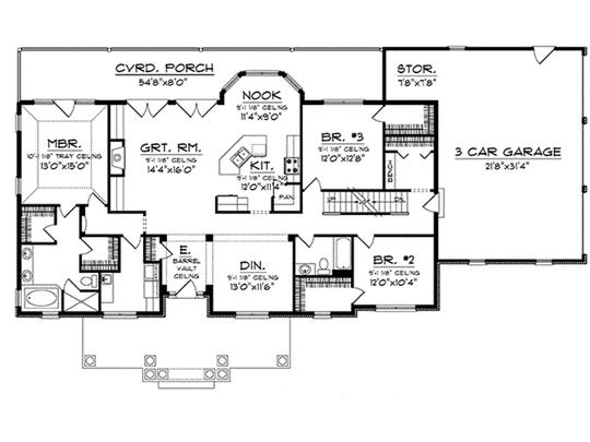 Storage is a priority, with a walk-in closet for each bedroom (the master suite gets two) and extra space in the garage.