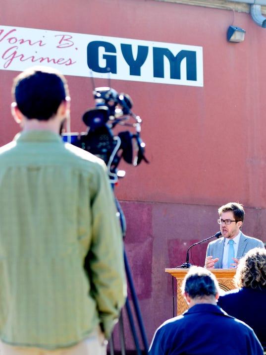 Voni B. Grimes Gym presser