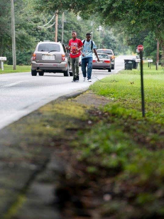 East Burgess Road sidewalks