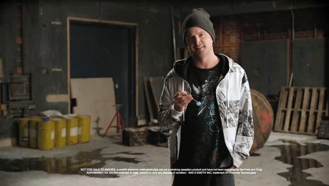 Aaron Paul in a scene from an ad parody on the 39th season premiere of 'Saturday Night Live.'