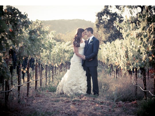 Brittany Maynard and husband Dan Diaz at their wedding.