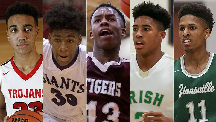 Left to right: Trayce Jackson-Davis, Aaron Henry, Eric