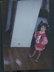 Childhood photo of Diane Guerrero.