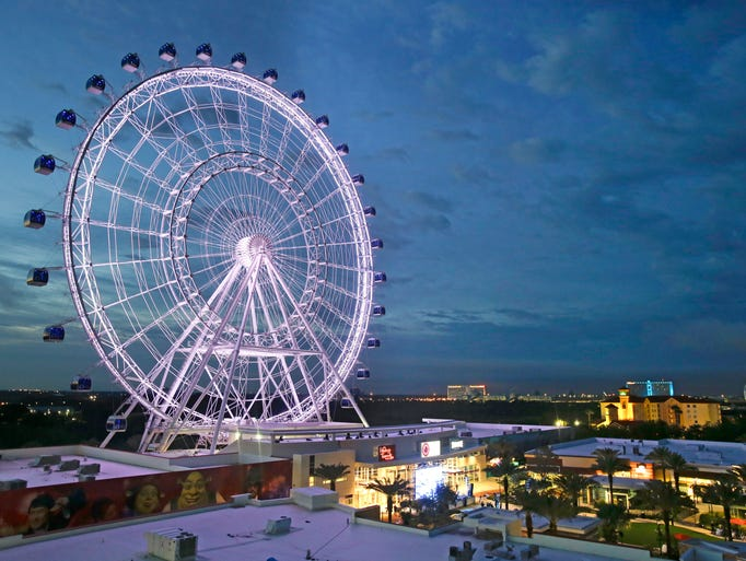 The Orlando Eye, the city's new 400-foot observation