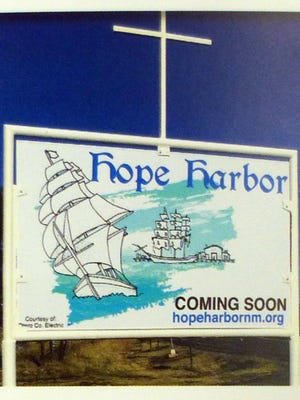 The Hope Harbor sign in Capitan.