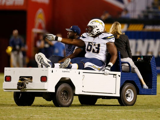 Donavon Clark, G, Chargers. No stats. Injured in exhibition