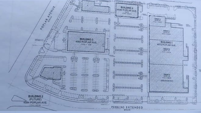 Poplar Commons will eventually have five buildings.