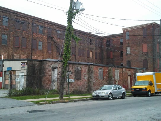 The rear of the Weaver Piano & Organ Company building