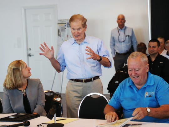 U.S. Sen. Bill Nelson met with water advocates and
