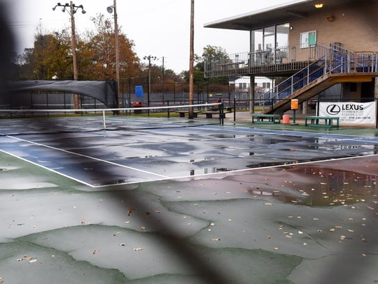 The Querbes tennis courts have had complaints from