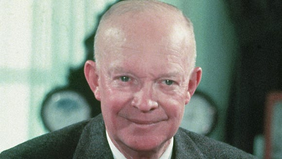In this 1956 file photo, President Dwight Eisenhower
