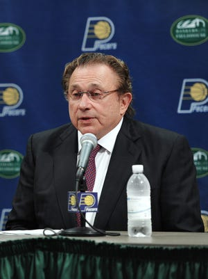 Indiana Pacers team owner Herb Simon during a press conference.