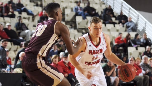 UL guard Matt Marlin brings the ball up in a January 2016 game against Texas State.