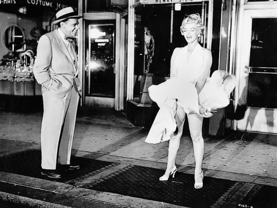 """Tom Ewell and Marilyn Monroe create one of the most iconic moments in movie history in """"The Seven Year Itch"""" (1955)."""