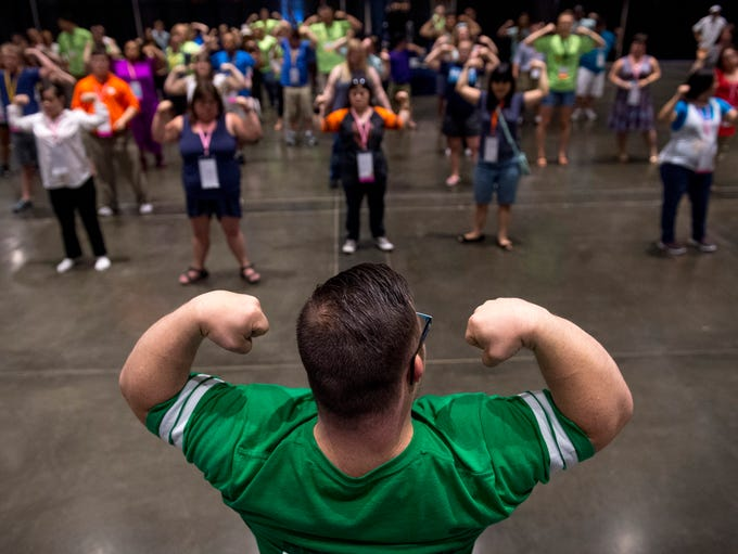 Bodybuilder and fitness fan Collin Clarke of Evansville,