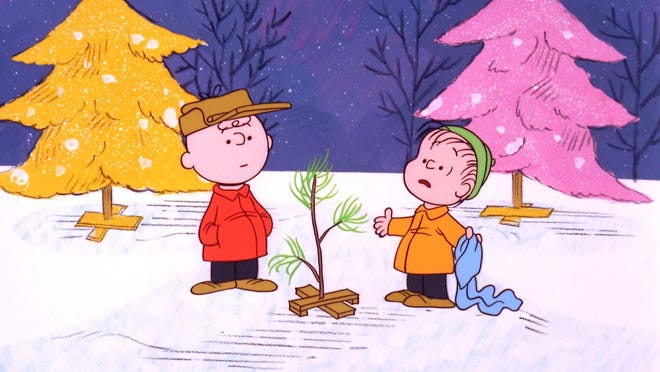 "In this promotional image provided by ABC TV, Charlie Brown and Linus appear in a scene from ""A Charlie Brown Christmas."""
