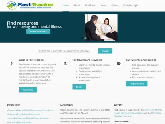 The Fast Tracker website allows the public and health
