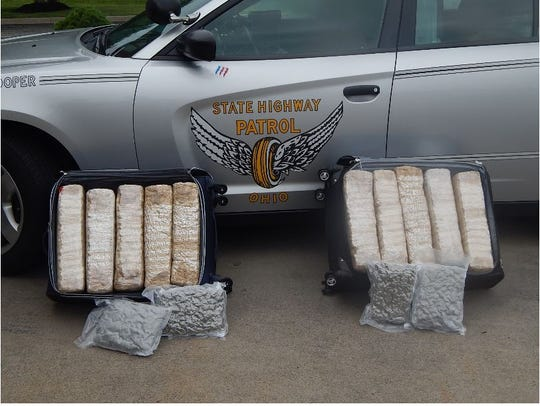 This is a photo of the 110 pounds of marijuana seized