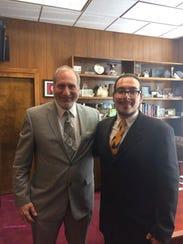 Joseph Tejada (right) has worked for Sen. Jeff Stone.