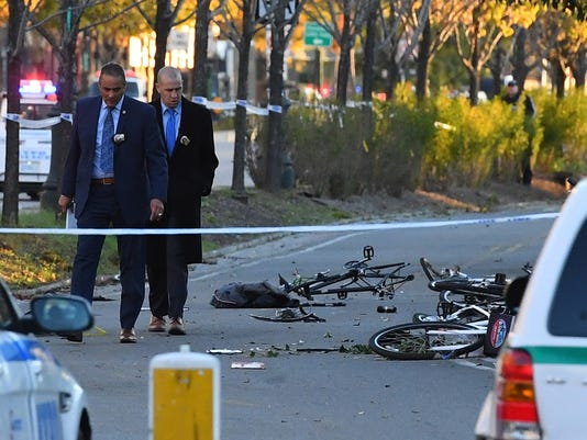 USP NEWS: NEW YORK CITY BIKE PATH ATTACK A USA NY