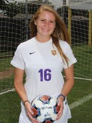 HSU defender Kirsten Parrish.