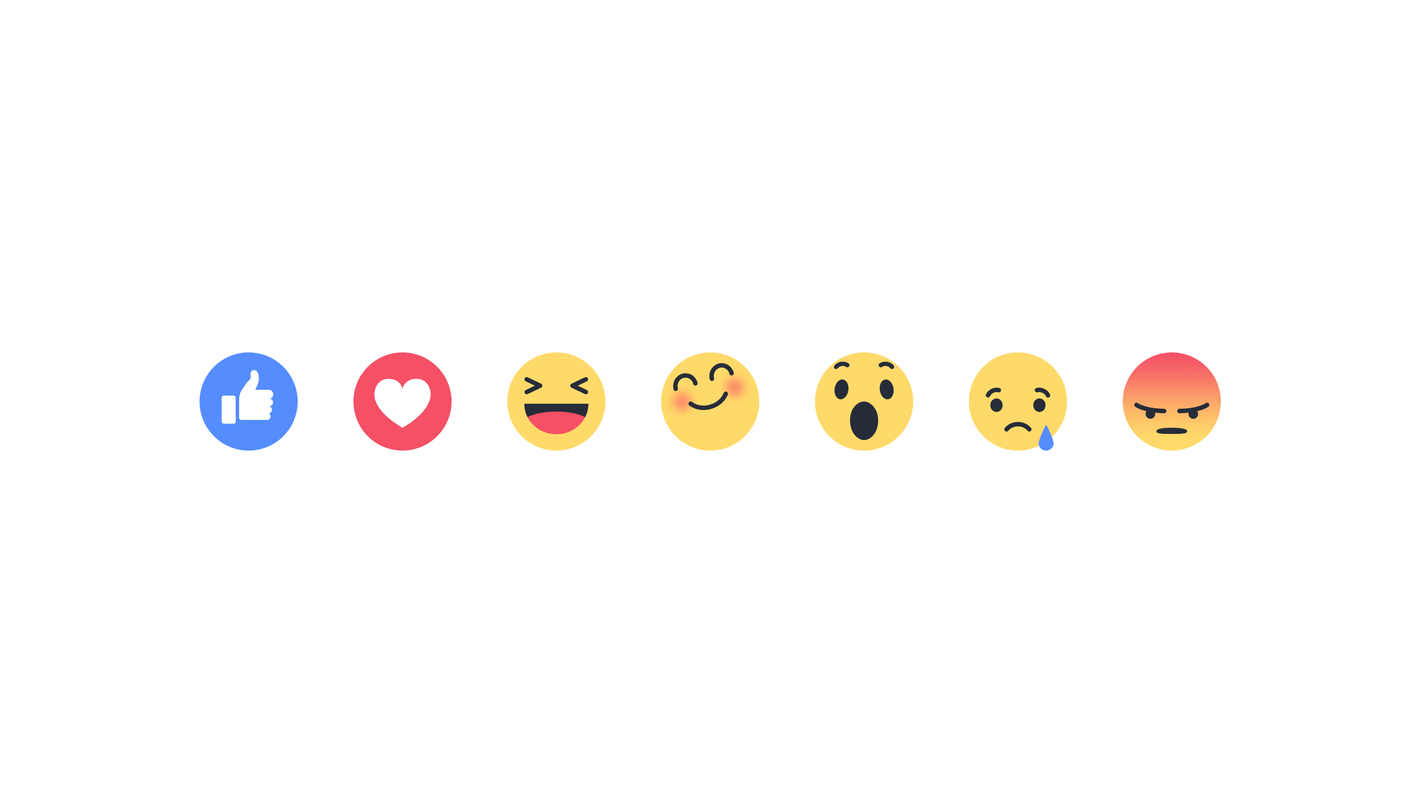 Meet Facebooks New Emoting Emojis Love Haha Wow Sad And Angry