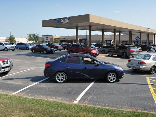 Every line at the Sam's Club fuel station had several cars in it Thursday afternoon after posts on social media reported gas shortages in other Texas towns due to Hurricane Harvey.