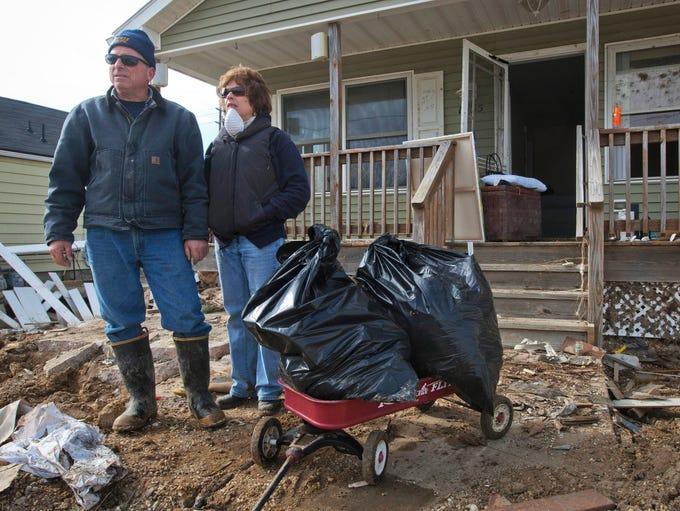 NJ Sandy2012 111412   Ortley Beach - Mark and Kathy